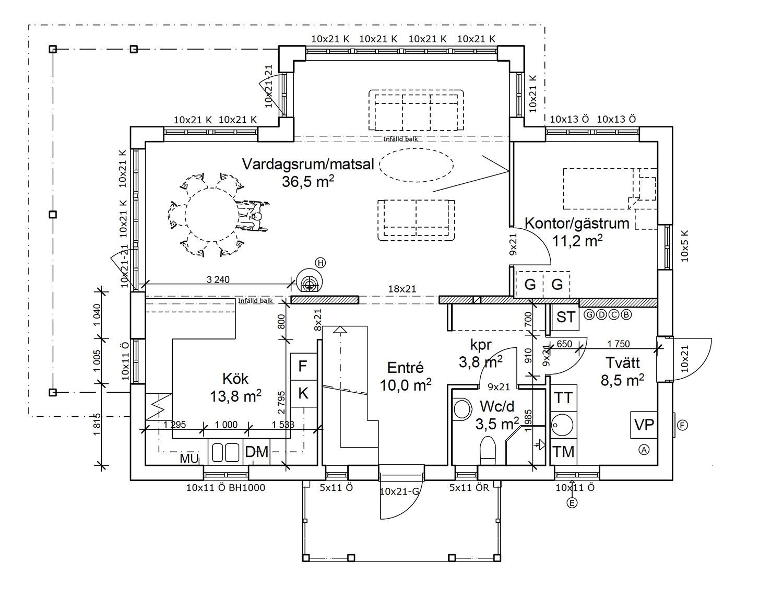 Färgsättningstips: Öppen planlösning