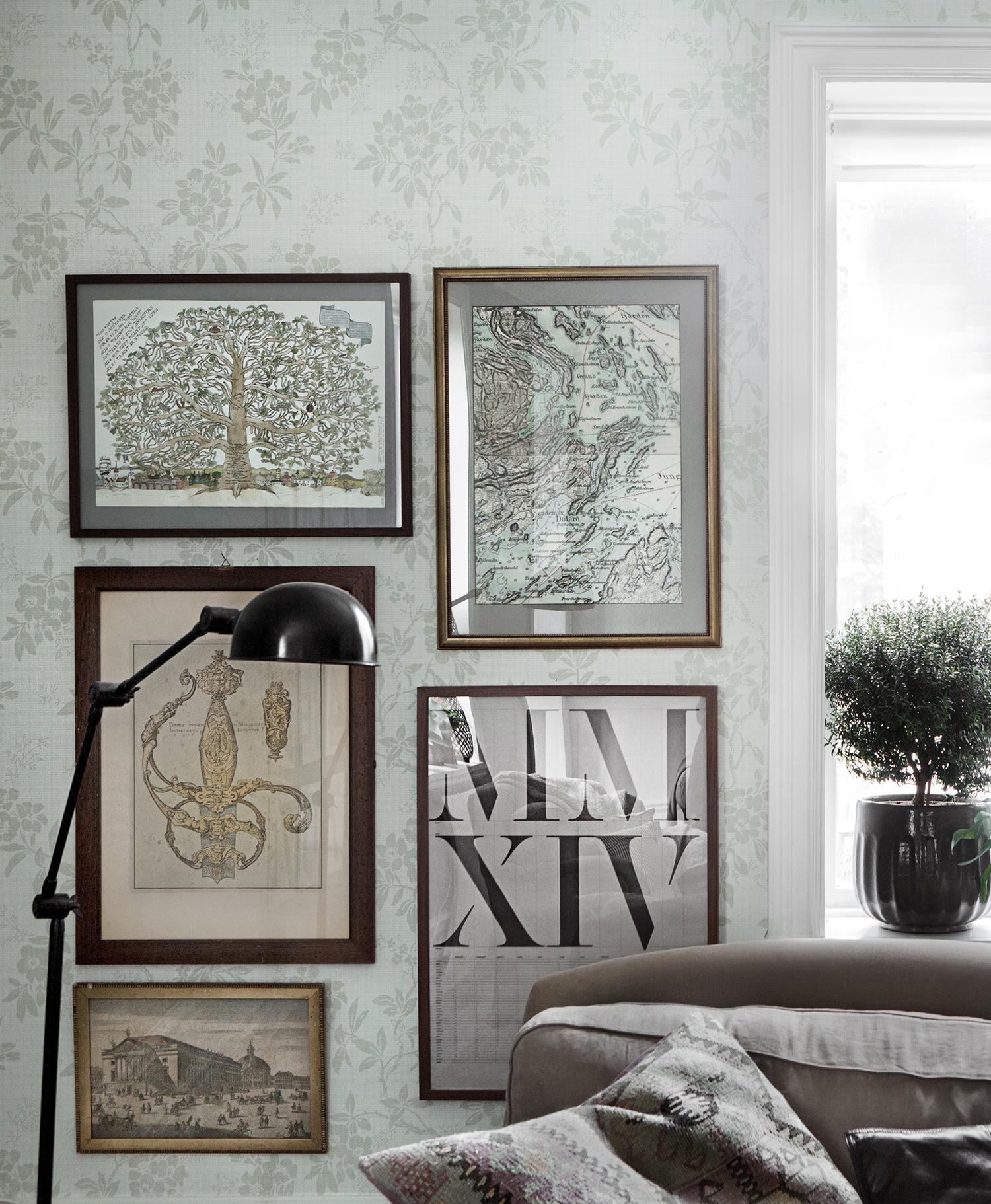 Sandberg wallpaper Vera 703-08 living room